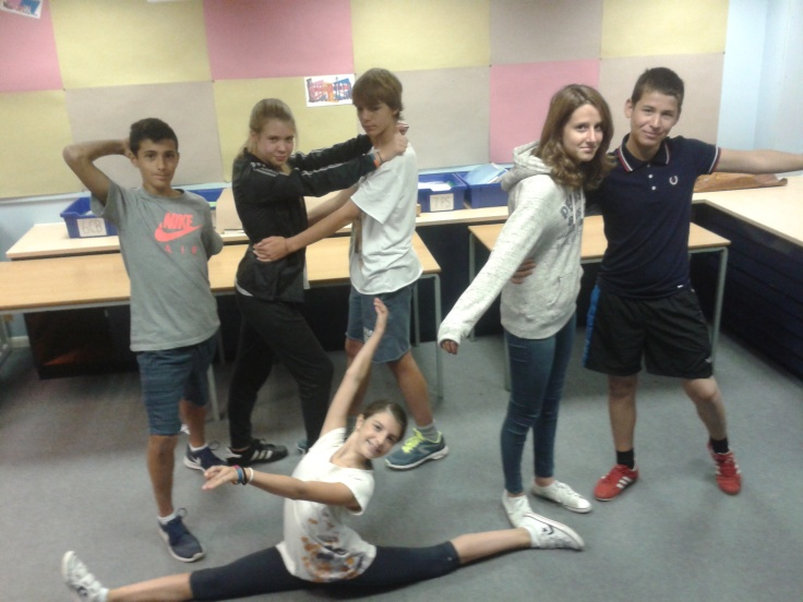 body movement position preposition practice