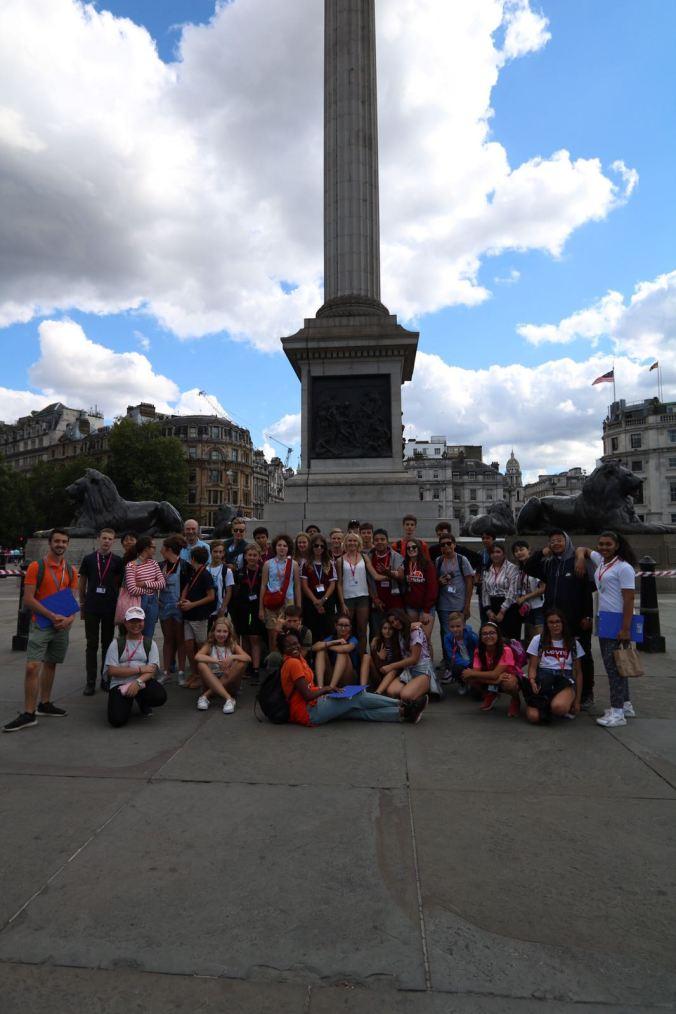 At Trafalgar Square